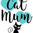 Cat Mum - Green Hearts by catloversaus