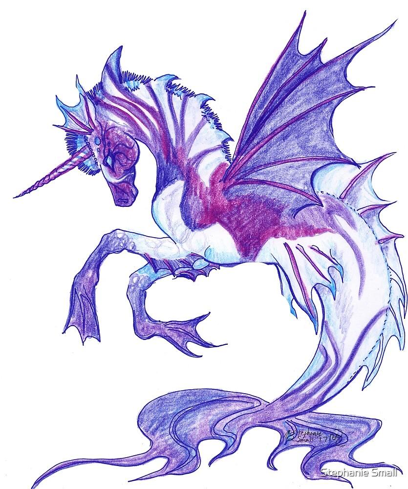 Sea Unicorn Hippocampus Horse Pony Ocean Water Zebra Equine Equus Blue Purple Magical Aquatic by Stephanie Small