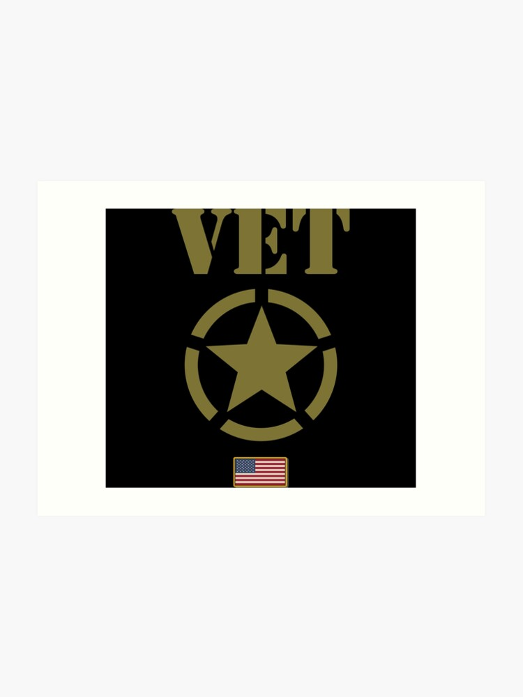 graphic about Printable American Flag Star Stencil identify Army Veteran United states of america Flag Star Stencil Picture Artwork Print