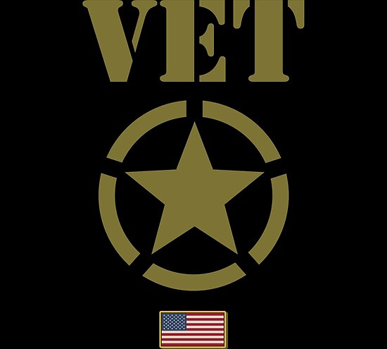 Military Veteran Usa Flag Star Stencil Graphic Posters By Bronby