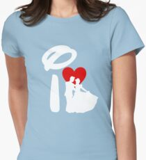 I Heart Happily Ever After (Inverted) Womens Fitted T-Shirt
