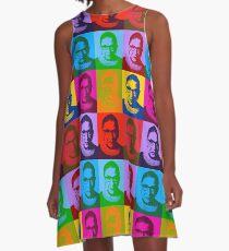 Notorious RBG - Mai Farben A-Linien Kleid