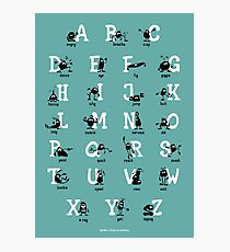 Alphabet - Aqua Photographic Print