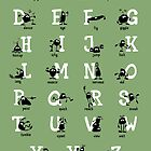 Alphabet - Green by addsoul