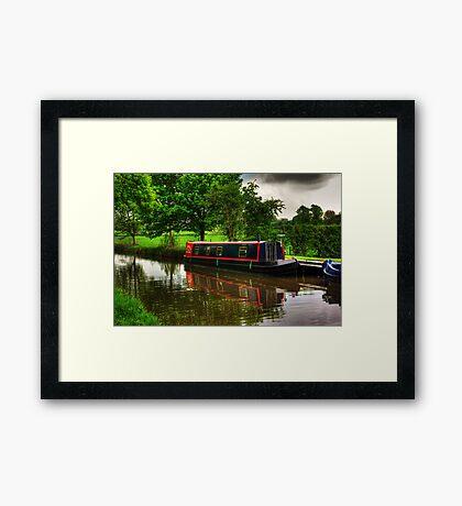 Canal Narrow Boat - Ripon Framed Print