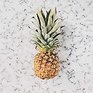 modern white marble tropical fruit pineapple by lfang77