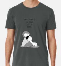 Camiseta premium para hombre Fácil de ser feliz