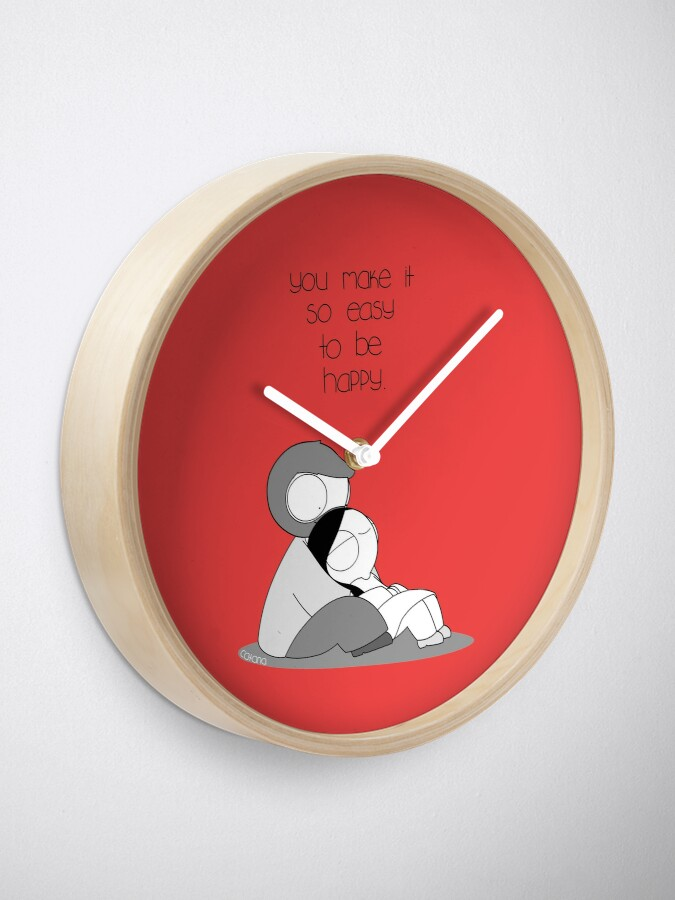 Alternate view of Easy To Be Happy Clock
