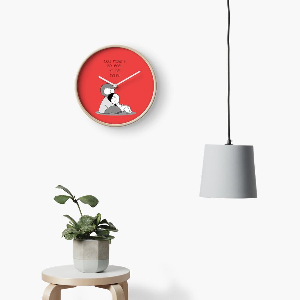 Easy To Be Happy Clock