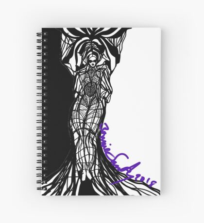 Woman Within Spiral Notebook