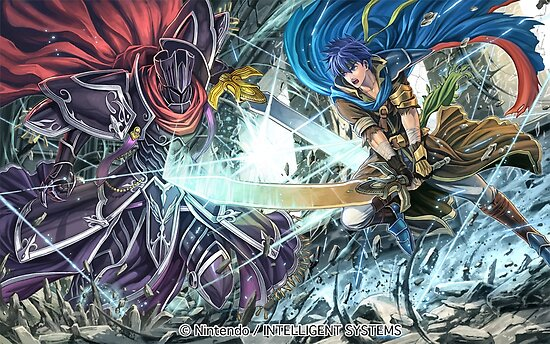 'Black Knight vs  Ike - Fire Emblem Cipher' Poster by Toshiyena