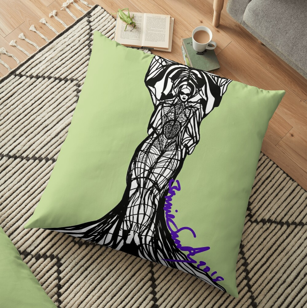 Woman Within3 Floor Pillow