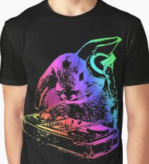 Bunny Neon DJ Graphic T-Shirt