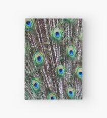 Peacock Feathers Hardcover Journal