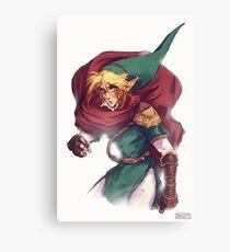 First Hero Link Portrait Canvas Print