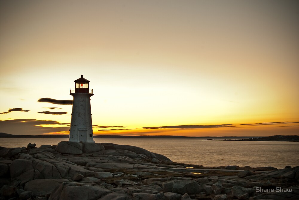 Peggy's Cove at Twilight by Shane Shaw