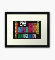 Periodic Table of Horror Movies Framed Print