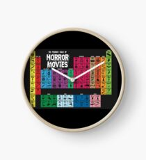 Periodic Table of Horror Movies Clock