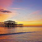 West Pier Murmuration by Barry Goble