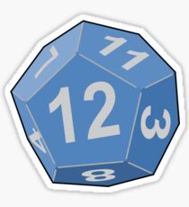 12 sided die stickers redbubble