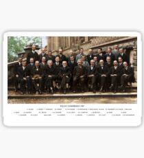 Smartest Photo Ever - Einstein, Bohr, Heisenberg, Curie, Schrödinger, Dirac, Pauli, Planck, Lorentz Sticker