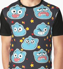 Gumball Pattern Graphic T-Shirt