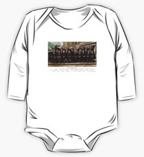 Smartest Photo Ever - Einstein, Bohr, Heisenberg, Curie, Schrödinger, Dirac, Pauli, Planck, Lorentz One Piece - Long Sleeve