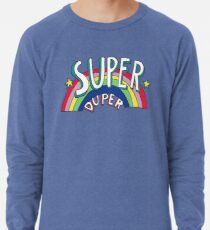 Super Duper Hand Drawn Seventies Style Rainbow Graphic Lightweight Sweatshirt