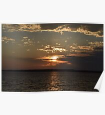 Ocean City, Maryland Series - Sunset Poster