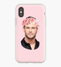 Chris Hemsworth Flower Crown iPhone Case
