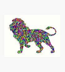 Lion Colorless predator animal Art Print