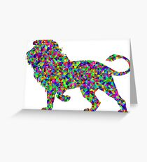 Lion Colorless predator animal Greeting Card