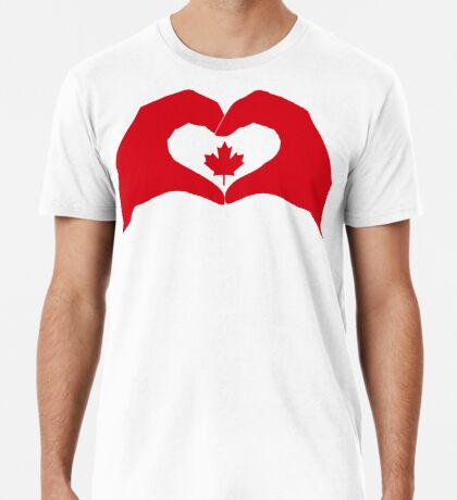 We Heart Canada Patriot Flag Series 1.0 Premium T-Shirt