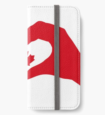 We Heart Canada Patriot Flag Series 1.0 iPhone Wallet