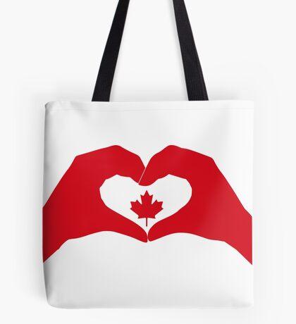 We Heart Canada Patriot Flag Series 1.0 Tote Bag