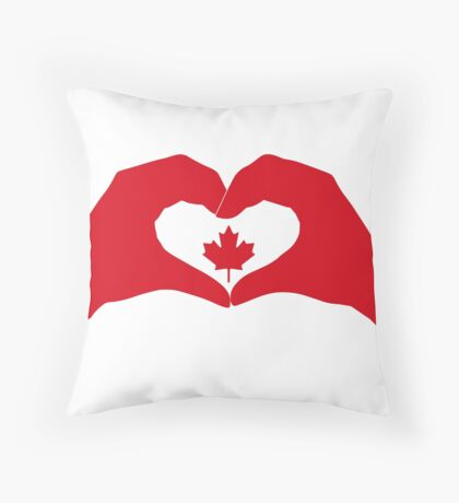 We Heart Canada Patriot Flag Series 1.0 Throw Pillow