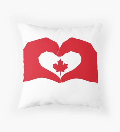 We Heart Canada Patriot Flag Series 1.0 Floor Pillow