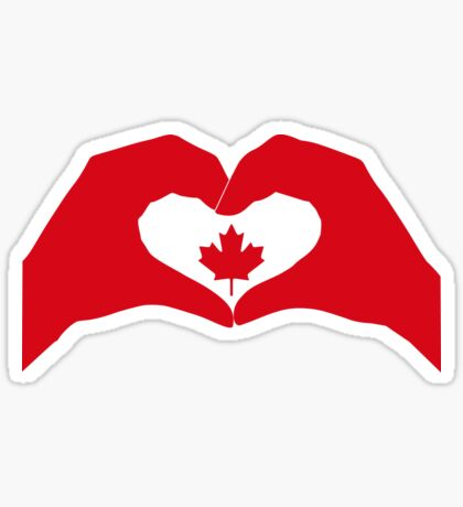 We Heart Canada Patriot Flag Series 1.0 Glossy Sticker