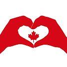 We Heart Canada Patriot Flag Series 1.0 by Carbon-Fibre Media