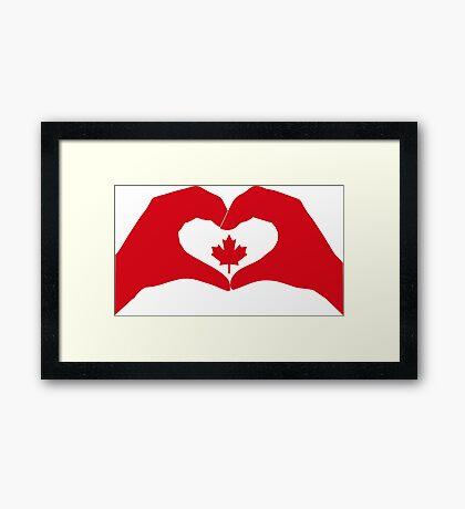 We Heart Canada Patriot Flag Series 1.0 Framed Print