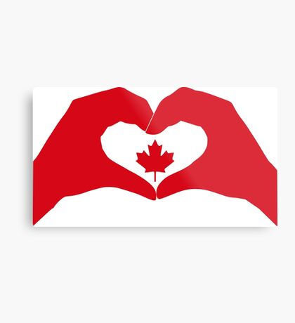 We Heart Canada Patriot Flag Series 1.0 Metal Print