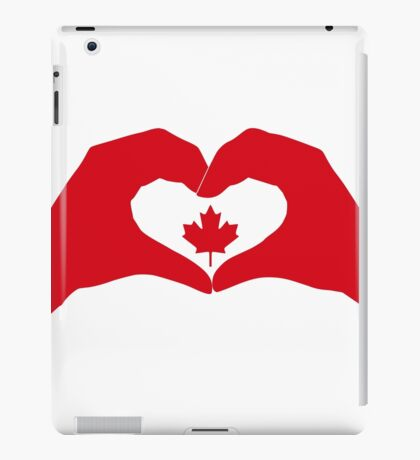 We Heart Canada Patriot Flag Series 1.0 iPad Case/Skin