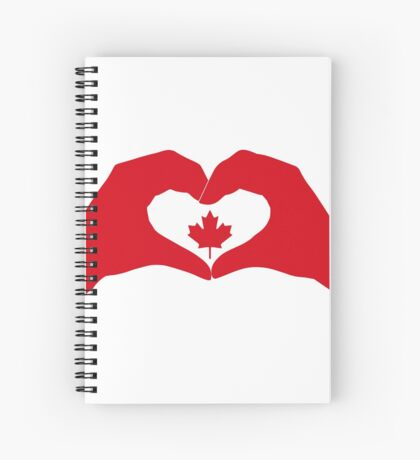 We Heart Canada Patriot Flag Series 1.0 Spiral Notebook