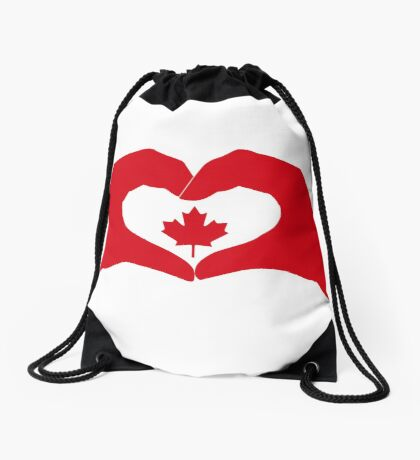 We Heart Canada Patriot Flag Series 1.0 Drawstring Bag