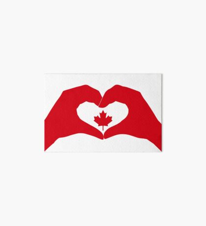 We Heart Canada Patriot Flag Series 1.0 Art Board Print
