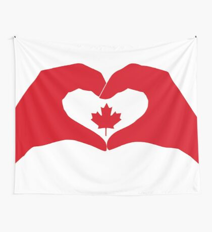 We Heart Canada Patriot Flag Series 1.0 Wall Tapestry