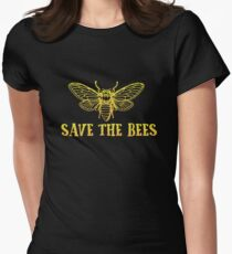 Save the Bees Gift Honey Bee Honeybee Beekeeper Women's Fitted T-Shirt