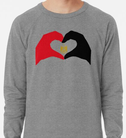 We Heart Egypt Patriot Flag Series  Lightweight Sweatshirt