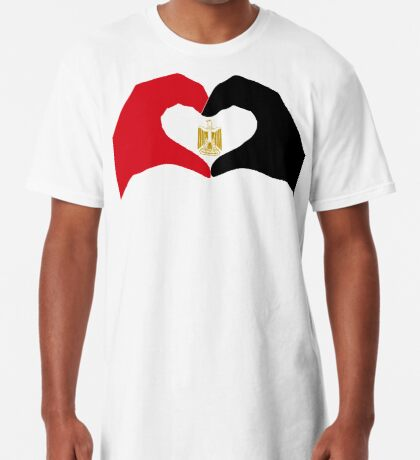 We Heart Egypt Patriot Flag Series  Long T-Shirt