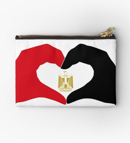 We Heart Egypt Patriot Flag Series  Zipper Pouch